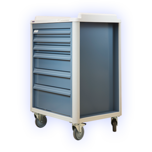 medical supply cart on wheels